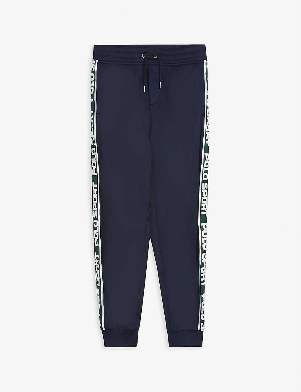 RALPH LAUREN: Sport logo tape woven jogging bottoms 6-16 years