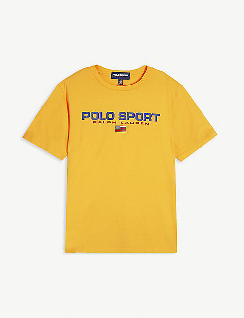 RALPH LAUREN Sports logo print cotton T-shirt 4-16 years