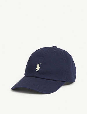 RALPH LAUREN Kids embroidered pony cotton baseball cap