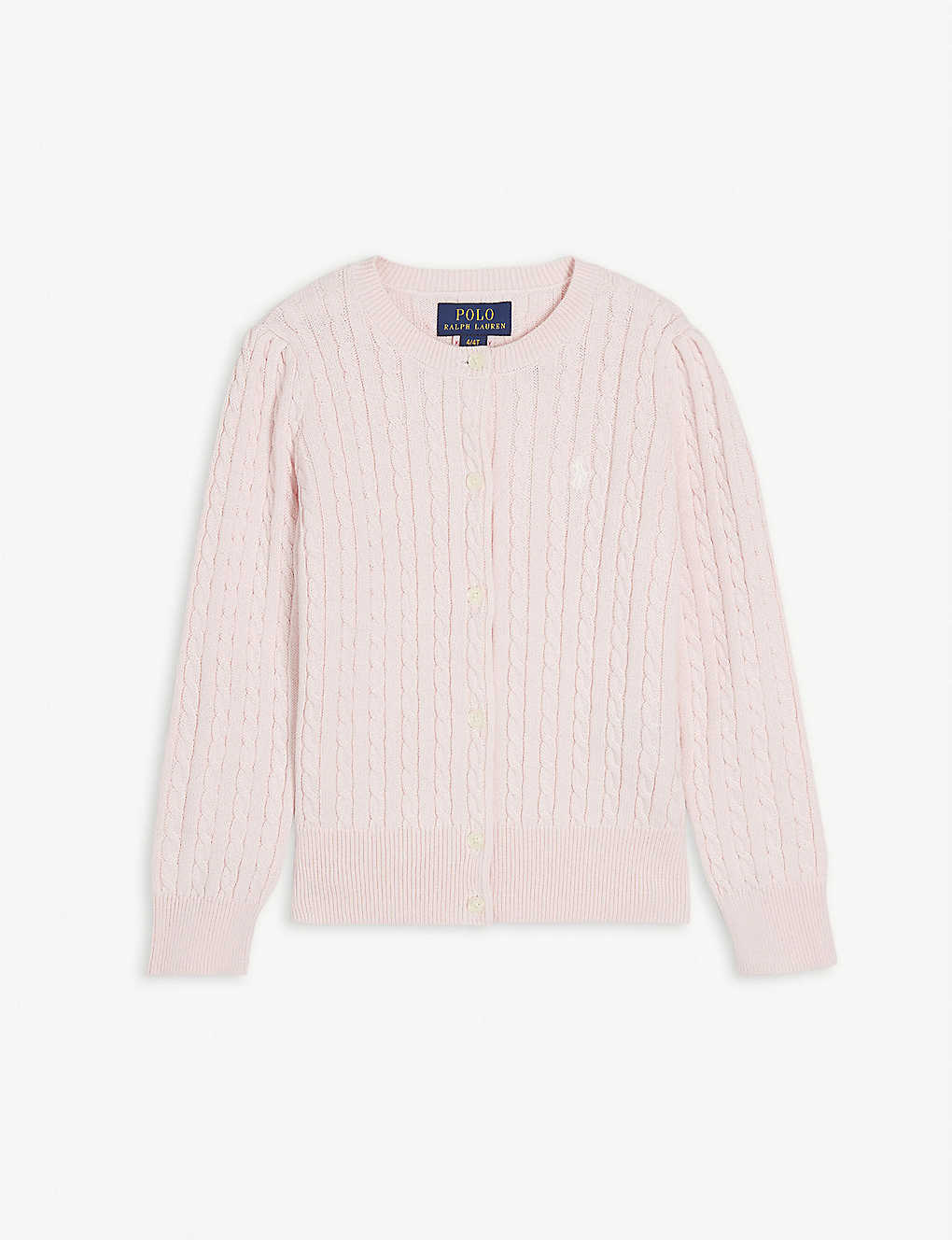 RALPH LAUREN: Cable-knit cotton cardigan 2-14 years