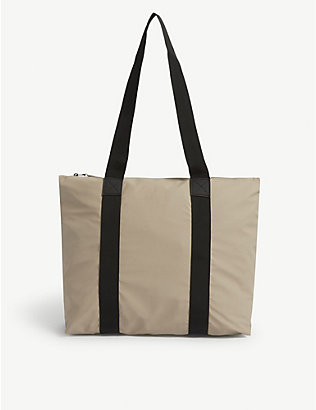 RAINS: PU tote bag