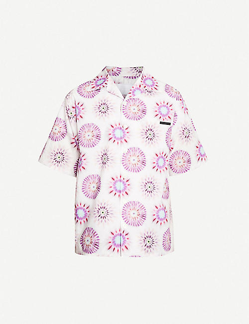 PRADA Graphic-print cotton-poplin shirt