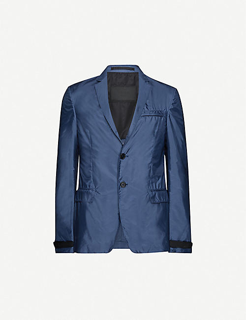 PRADA: Single-breasted shell blazer