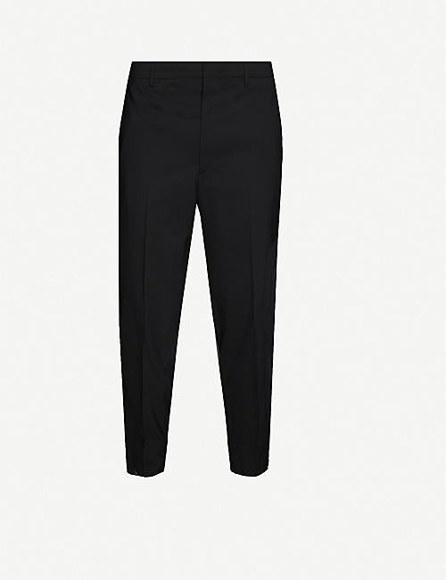 PRADA: Slim-fit straight woven trousers