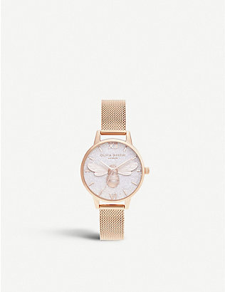 OLIVIA BURTON: OB16FB04 rose-gold ion-plated stainless-steel watch