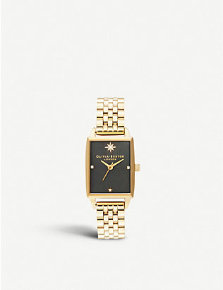 OLIVIA BURTON: Celestial yellow-gold ion-plated stainless steel watch