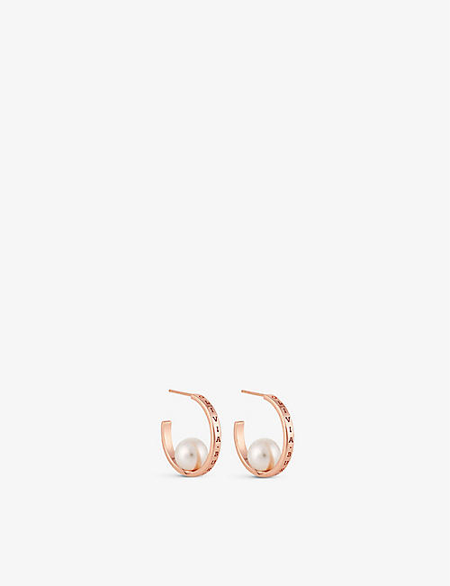OLIVIA BURTON: The Classics rose-gold sterling silver earrings