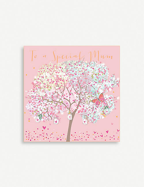 BELLY BUTTON DESIGNS To a Special Mum greeting card 13cm x 13cm