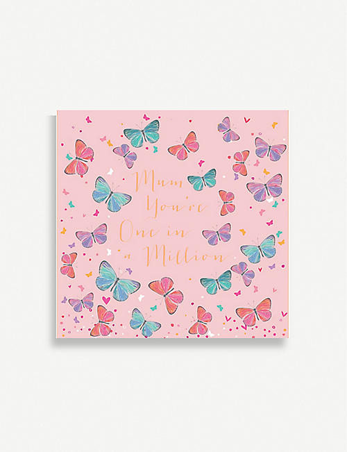 BELLY BUTTON DESIGNS Mum You're One in a Million greeting card 13cm x 13cm