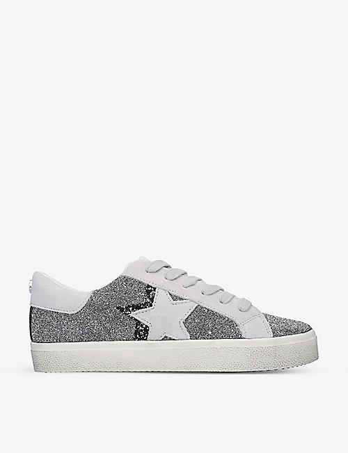 STEVE MADDEN: Philip-C beaded faux-leather trainers