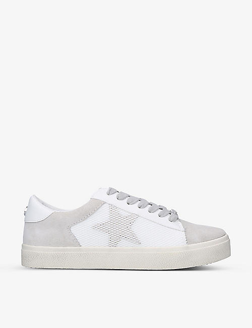 STEVE MADDEN: Philly star-embellished mesh-panel trainers