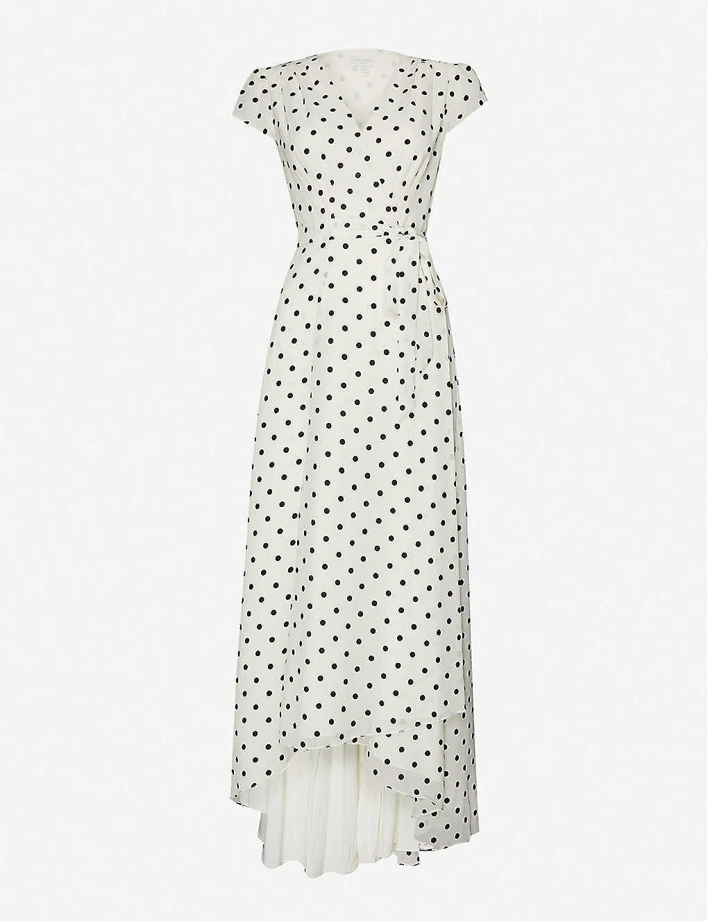 TED BAKER: Plunging V-neck crepe maxi dress