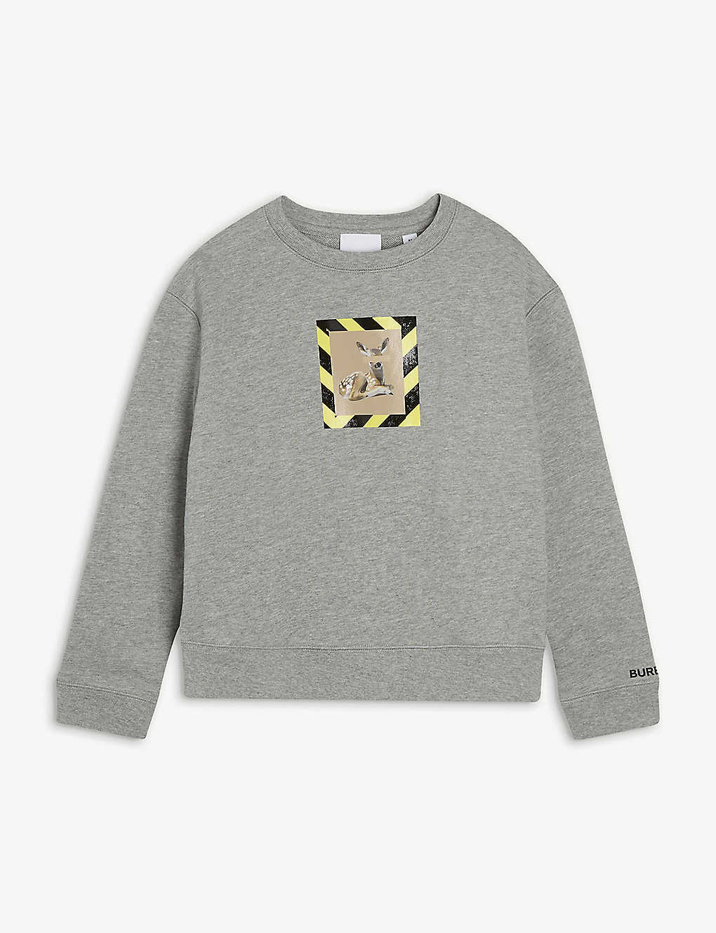 BURBERRY: Deer-motif cotton-jersey sweatshirt 6-14 years