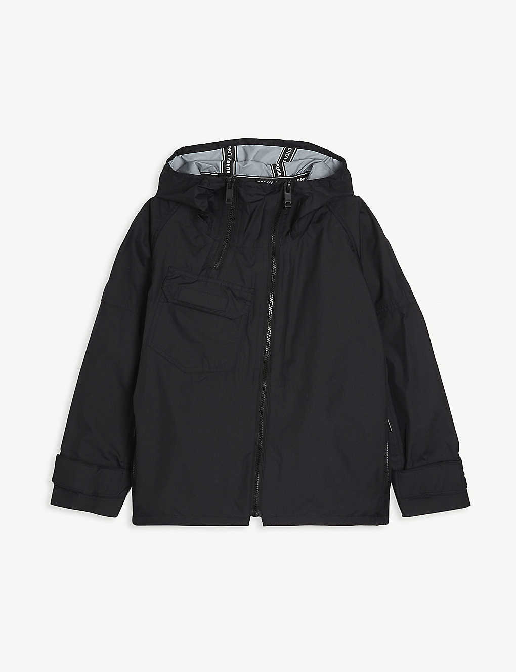 BURBERRY: Hooded shell jacket 6-14 years