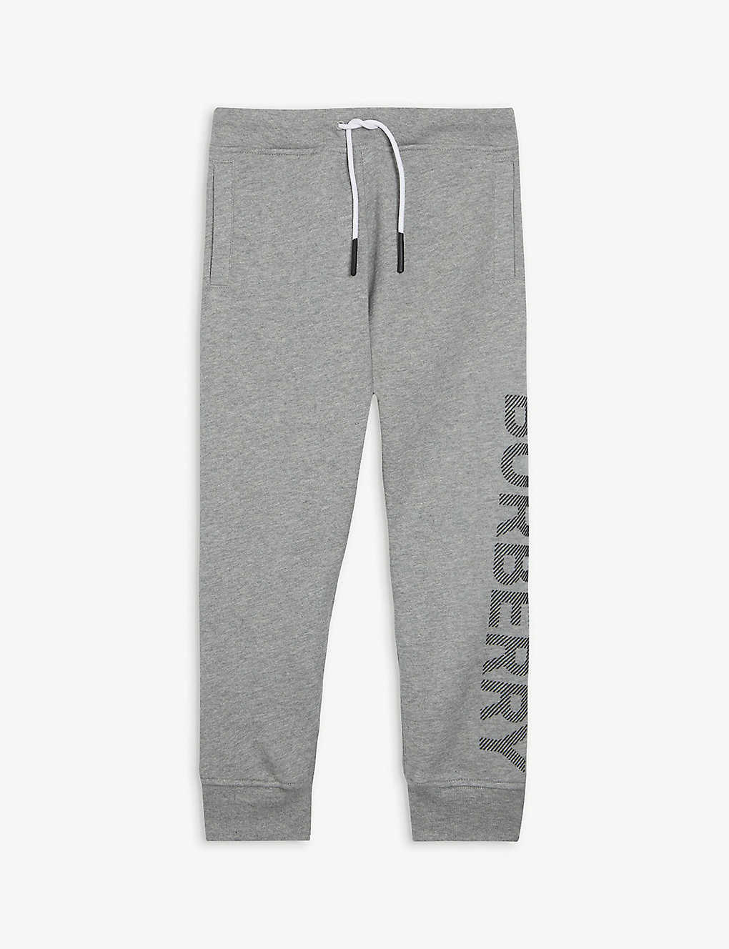 BURBERRY: Logo-print cotton-jersey jogging bottoms 3-14 years