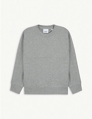 BURBERRY: Logo-print cotton-jersey sweatshirt 3-14 years