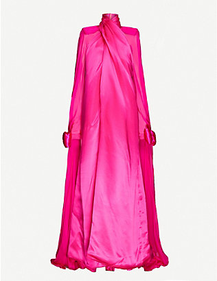 RICHARD QUINN: High-neck silk gown