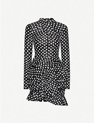 RICHARD QUINN: Polka-dot sequin mini dress