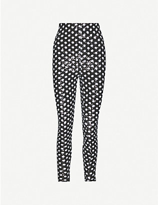 RICHARD QUINN: High-rise polka-dot sequin trousers