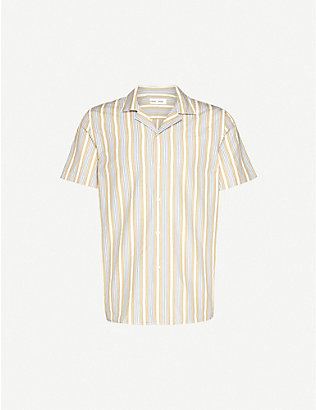 SAMSOE & SAMSOE: Einar short-sleeved relaxed-fit cotton shirt