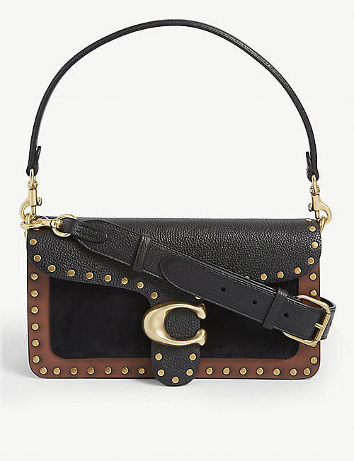 COACH: Tabby studded leather shoulder bag