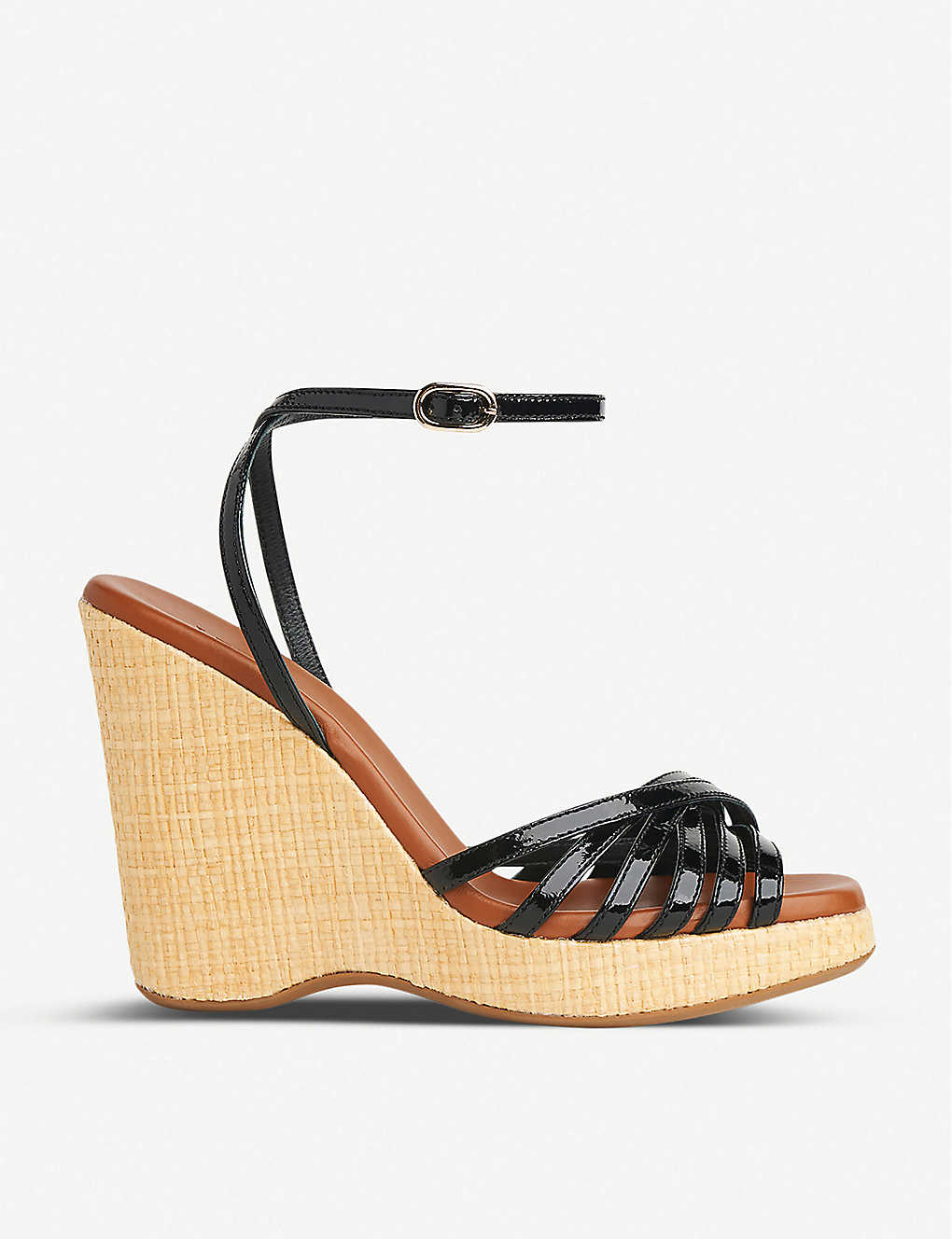 LK BENNETT: Solange leather wedge sandals