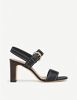LK BENNETT: Natalie buckled leather heeled sandals