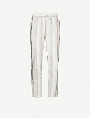 HANRO: Striped cotton pyjama bottoms