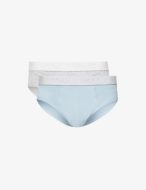 HANRO: Packe of two Essential cotton briefs