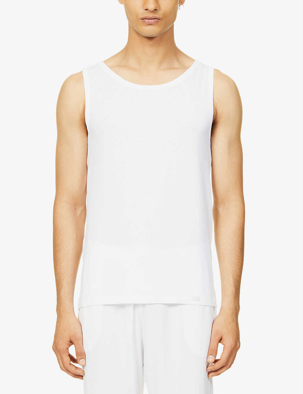 HANRO: Natural Function stretch-jersey vest