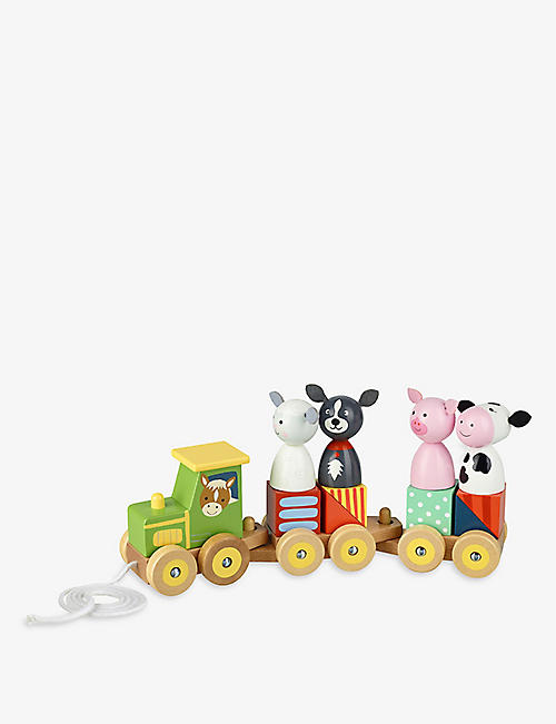 ORANGE TREE TOYS: Animal wooden train puzzle