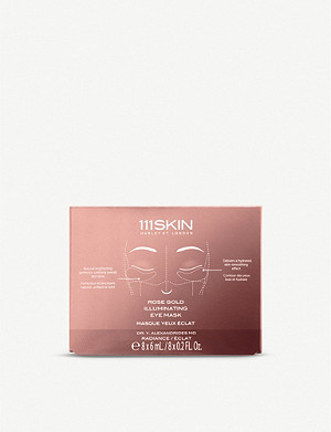 111SKIN Rose Gold Illuminating eye mask pack of eight