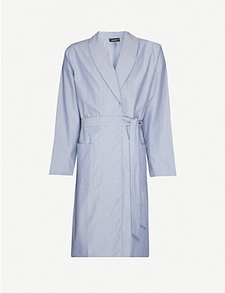 HANRO: Striped cotton dressing gown