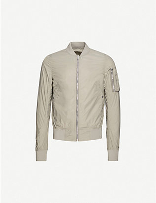 RICK OWENS DRKSHDW: Slim-fit shell bomber jacket