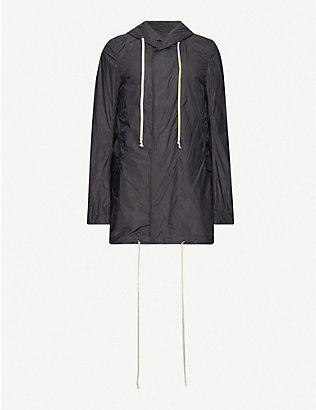 RICK OWENS DRKSHDW: Fishtail shell parka coat