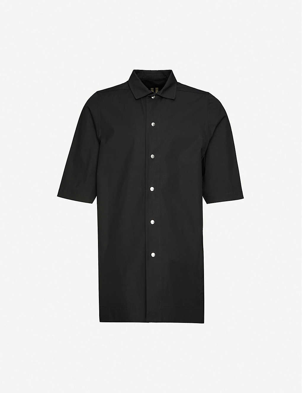 RICK OWENS DRKSHDW: Graphic-print stretch-cotton shirt