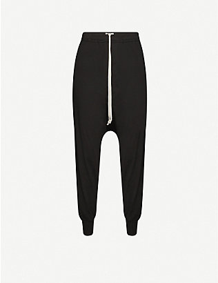 RICK OWENS DRKSHDW: Prisoner drawstring cotton trousers