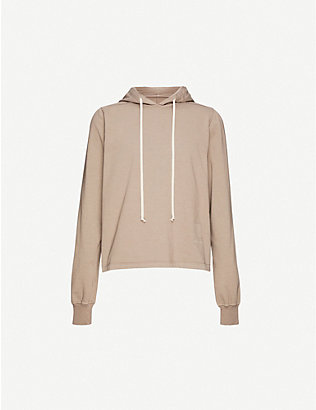 RICK OWENS DRKSHDW: Drawstring cotton-jersey hoody