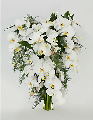 MOYSES STEVENS: White Orchids large arrangement