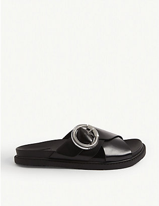 TOPSHOP: Pedro leather slider sandals