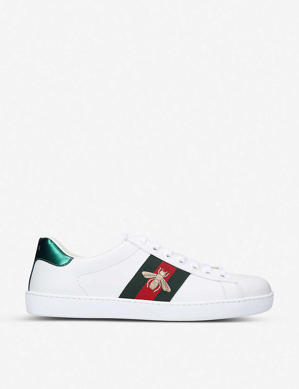 GUCCI: New Ace Bee leather trainers