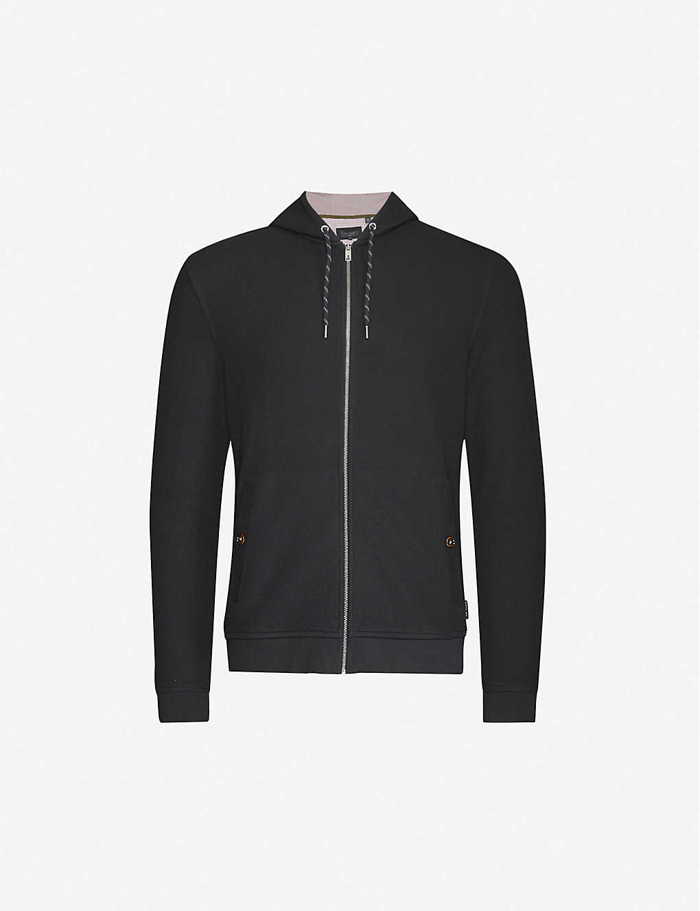 TED BAKER: Textured cotton-jersey hoody