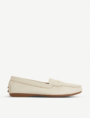 DUNE Grover round-toe leather loafers