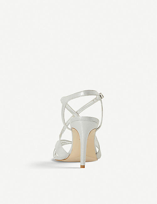 DUNE Mysticks metallic woven heeled sandals