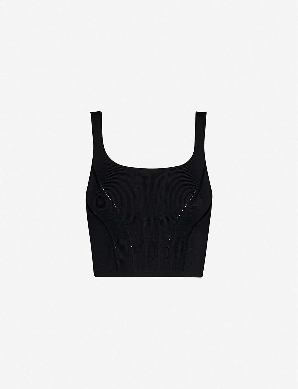 GOOD AMERICAN: Contoured stretch-ponté top