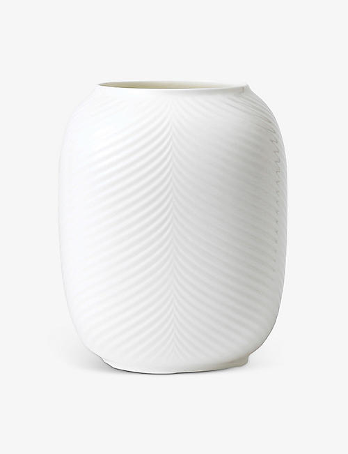 WEDGWOOD: White Folia Lithophane candle holder 20cm