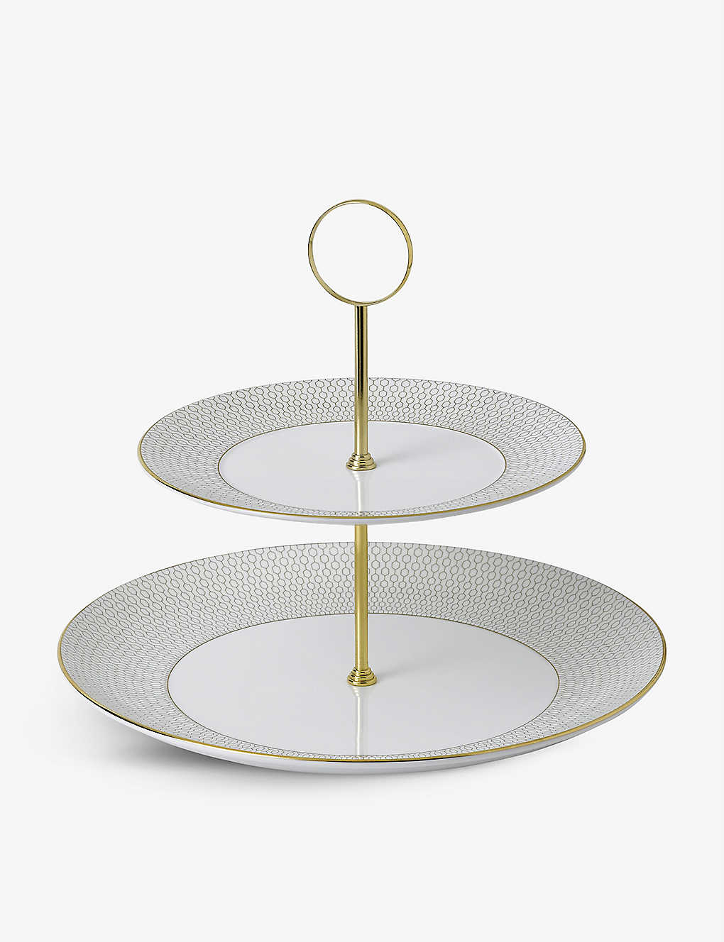 WEDGWOOD: Arris 2-tier cake stand