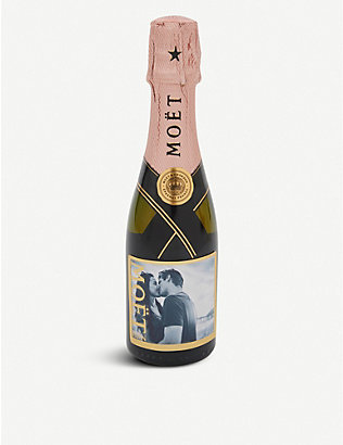 MOET & CHANDON: Personalised Impérial Rosé NV Champagne 200ml
