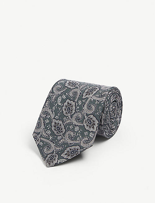 REISS Joe silk paisley tie