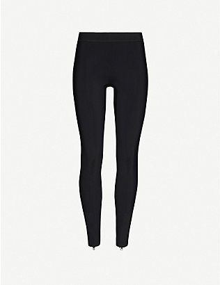 REEBOK X VICTORIA BECKHAM: Branded mid-rise stretch-shell leggings